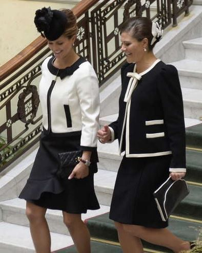 Princess Madeleine and Crown Princess Victoria, September 15, 2015 - nice matching outfits!