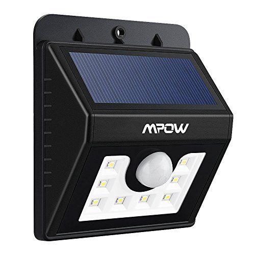 Nouvelle Version] Mpow Lampe Solaire LED Etanche Faro Lumiere 8 LED/ Luminaire exterieur Sans Fil avec Détecteur de Mouvement/ Eclairage…