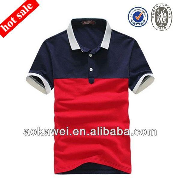 Fashion two-tone polo mens polo shirt Factory custom T-shirt High ...