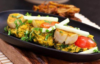 Curried Scallops Recipe With Dhal & Coconut - Great British Chefs