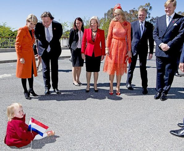 King Willem-Alexander and Queen Maxima met with Australia's Prime Minister Malcolm Turnbull and his wife Lucy