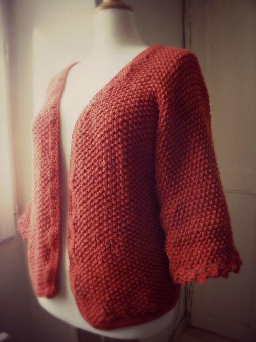 le carnet de Sophie: [tricot facile] DIY gilet tout en un #2