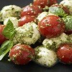 Pesto Cherry Tomato Caprese Salad   Honest Cooking