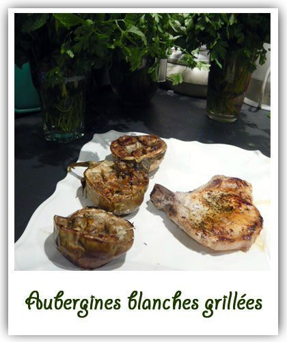 Aubergines blanches grillées