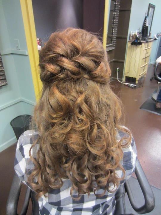 Half up half down hairstyle for a debutante ball. Stylist Ashley White/ So Vain Salon, Huntsville AL