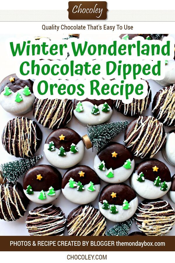 Winter Wonderland Chocolate Dipped Oreos in 2020 ...
