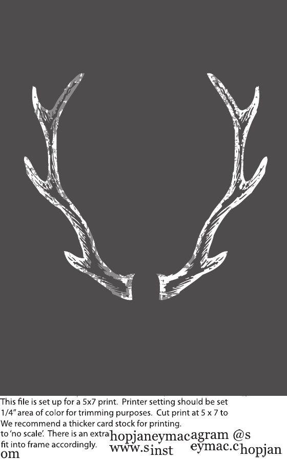 Chalkboard Art Antlers Free Fall Printable