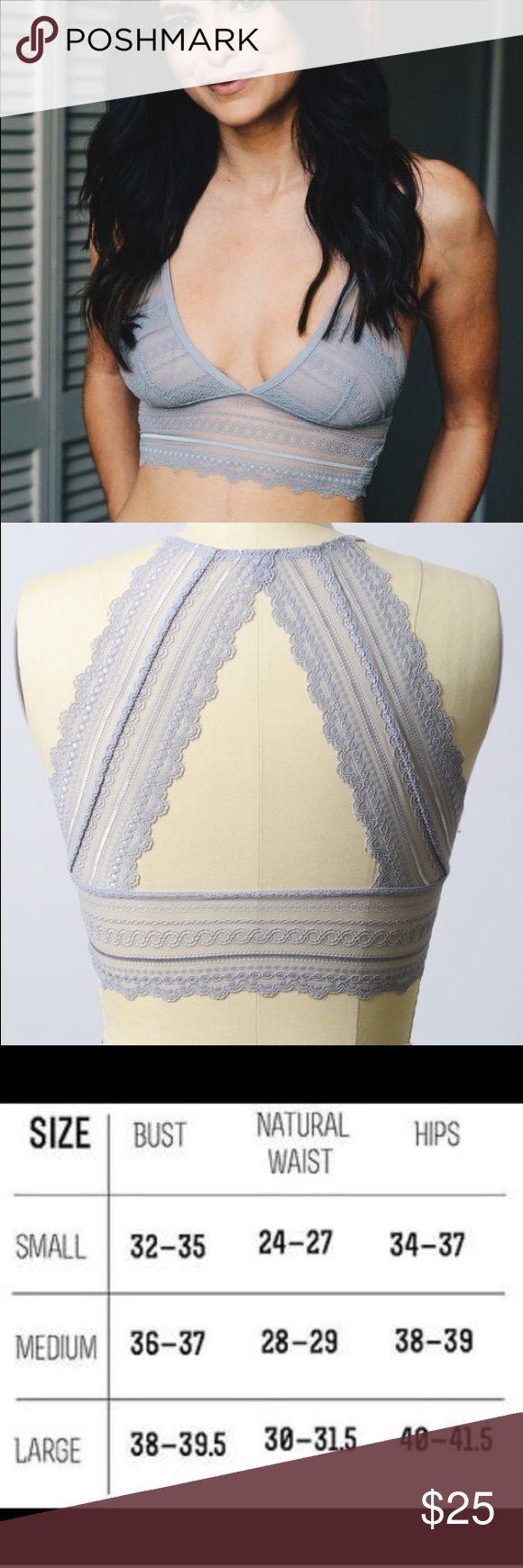 Scalloped lace keyhole longline Bralette lace trim Brand new / 92% nylon 8% spandex/ no trades/ not aloe brand / also sold at ⭐️ breathofyouth.com ALO Yoga Intimates & Sleepwear Bandeaus