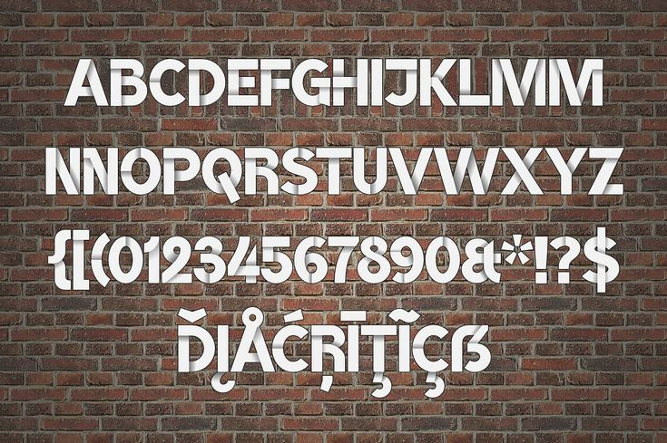Color font BroshK2- white by glukfonts on @creativemarket