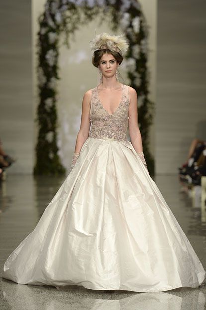 Robyn Cliffe Wedding dress, Lace bodies and satin skirt.