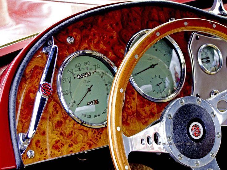 1953 Mg Car Dashboard.