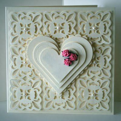 Spellbinders Fleur De Lis Pendant Die and Nestabilities Hearts..... from 2010!