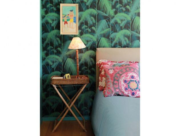 Deco chambre vintage papiers peints wallpaper pinterest vintage et d co - Deco vintage chambre ...