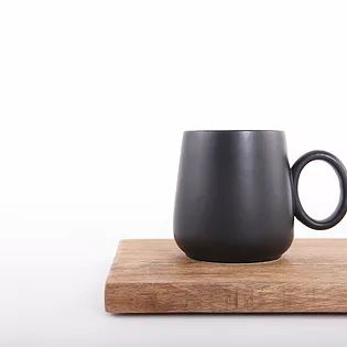 buy homewares australia, Wooden chopping board and black mug, homewares