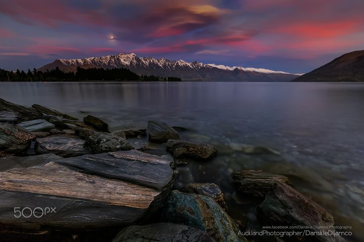 * * * The Remarkables * * * - Lake Wakatipu and The Remarkables  The spectacular alpine scenery of Queenstown just right in front of our Hotel's doorsteps. A must visit region down South Island of New Zealand.