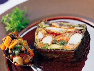 えびと野菜のテリーヌレシピ 講師は新屋 信幸さん|使える料理レシピ集 みんなのきょうの料理 NHKエデュケーショナル