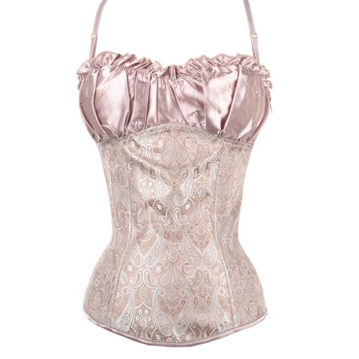 It'll feel and look like you're wearing nothing at all! This nude colored corset top comes complete with paisley style design around the middle and waist and is topped off by a satin style finish around the bust which softens and adds to the sensual feel.   This is the perfect lingerie corset and is designed with those intimate evenings in mind, or for wearing underneath other clothing