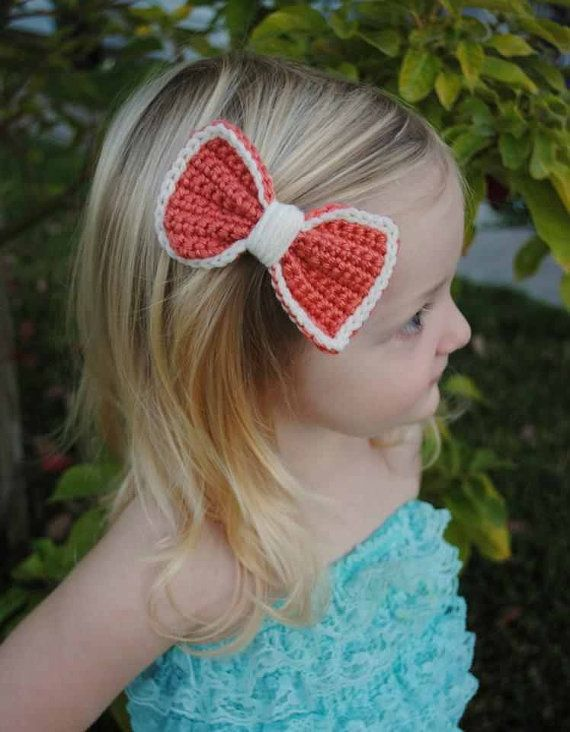 Crochet Hair Bow but just smaller and in black.