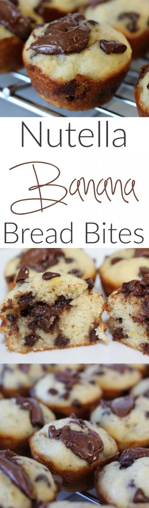 Nutella Banana Bread Bites - a quick and easy dessert that your guests will love