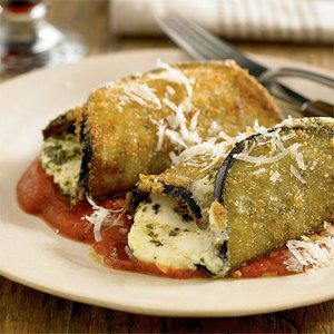 Eggplant Roll-Ups- not an eggplant person, but always willing to try again