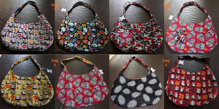Handmade by Fairybutterfly Handmade Reversible hobo bags For more information, please visit https://www.facebook.com/HandmadeMarkets