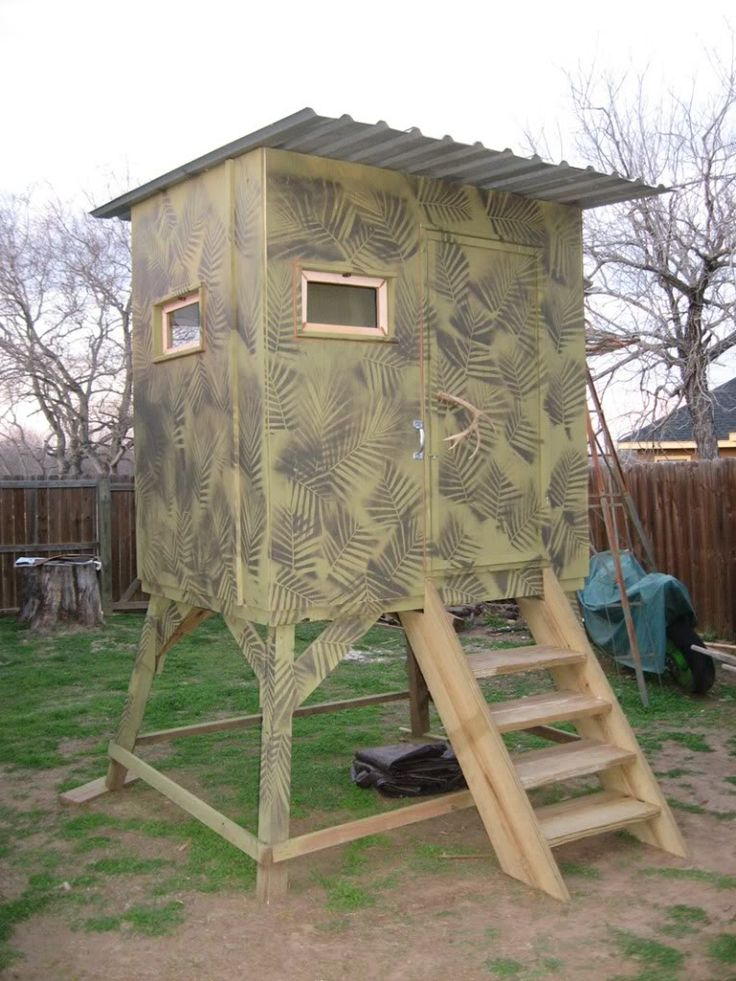 Permanent ground blind plans images frompo for Elevated hunting blind designs