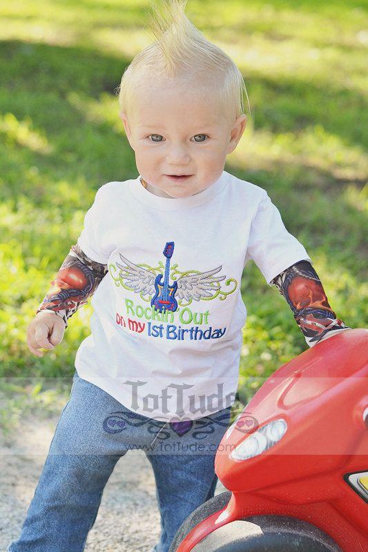 Baby Tattoo Sleeve T shirt Rock First Birthday on Etsy, $37.00