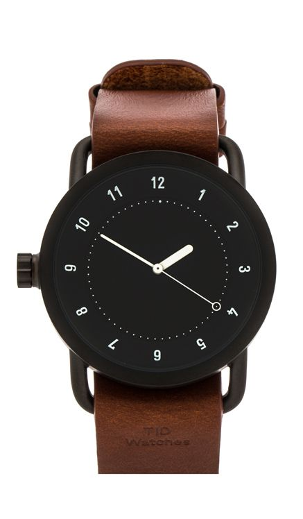 20d228ff707 TID Watches No. 1 + Leather Wristband in Black   Tan