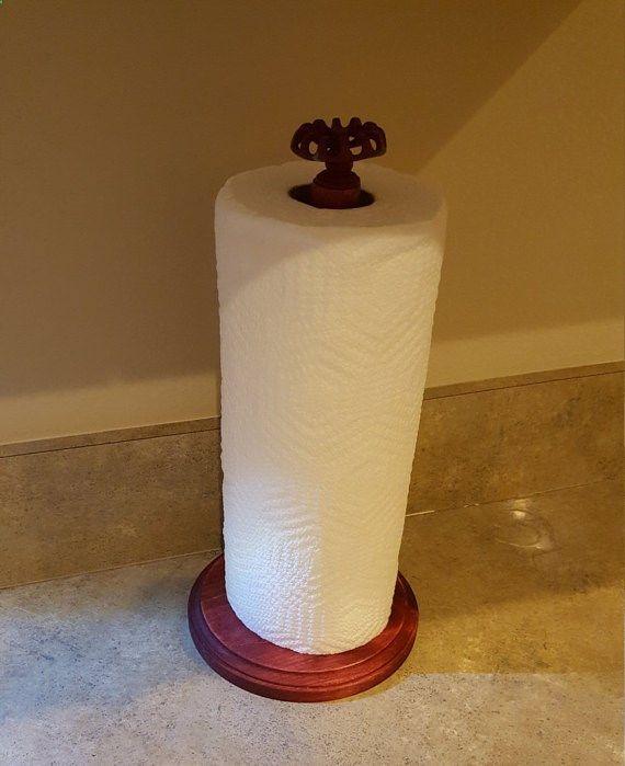 Wooden paper towel holder paper towel holder by SawdustToThreads