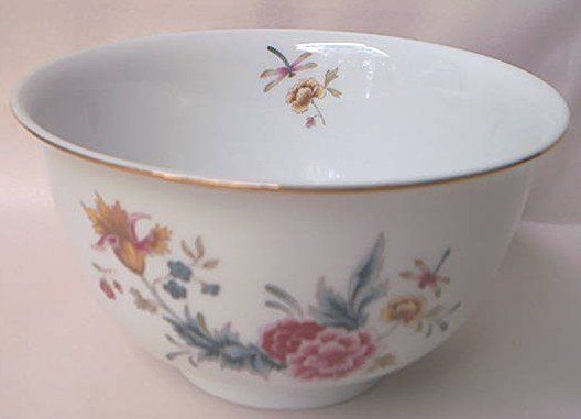 AVON AMERICAN HEIRLOOM INDEPENDENCE DAY 1981 BOWL ~JAPAN~FLORAL~GOLD TRIM