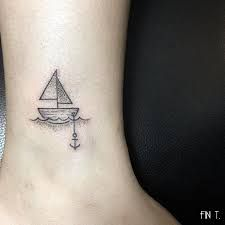 Image result for orange and blue sailboat tattoo