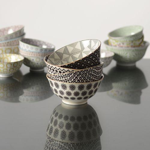 Bol en porcelaine motifs Eclectic (3 motifs) Jardin d'Ulysse : Decoclico