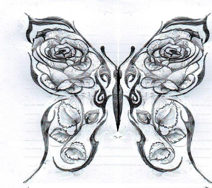 Roses And Butterflies Drawings Drawings Of Ros...