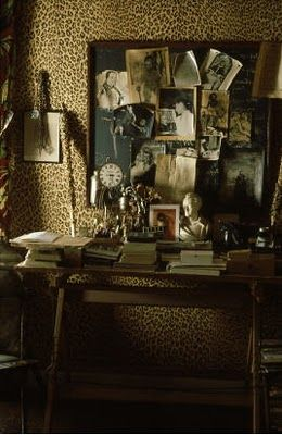 Leopard print walls in Jean Cocteau's home --Love the walls, and the fact that they are in Jean Cocteau's house just makes them extraordinary!
