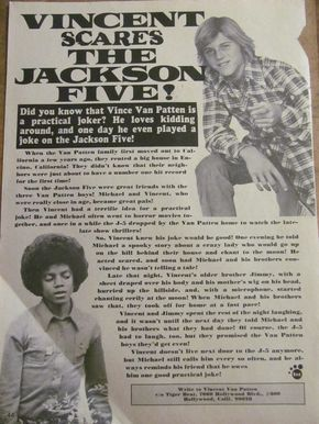 The Jackson Five, Michael Jackson, Vincent Van Patten Full Page Vintage Clipping