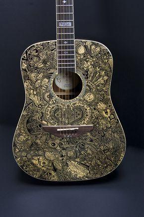Yet Another Sharpie guitar: 'Inkorruptible II' by sprat, via deviantART http://sprat.deviantart.com/gallery/