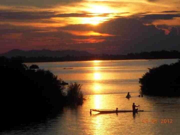 Sunset Don Det 4000 Islands Laos