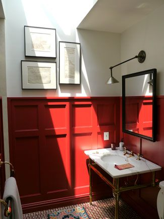 Best 20 red accent walls ideas on pinterest red accent for Red accent bathroom