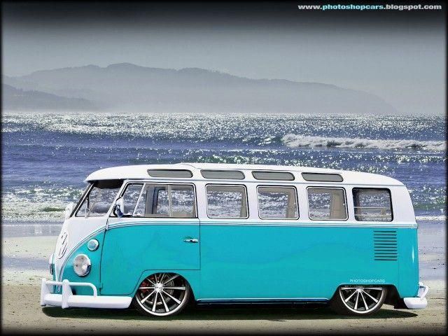 Aqua vw bus