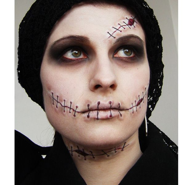 maquillaje_halloween231.jpg (630×600) stitches  will ne closer tpgether amd will not go out as far