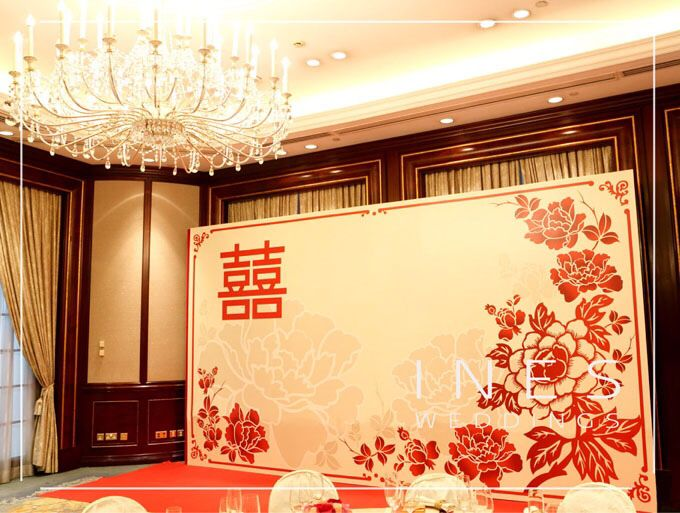 Chinese wedding backdrop we do pinterest backdrops for Asian wedding stage decoration london
