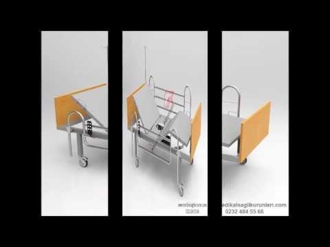 Ucuz İki Motorlu Lazımlıklı Hasta Karyolası
