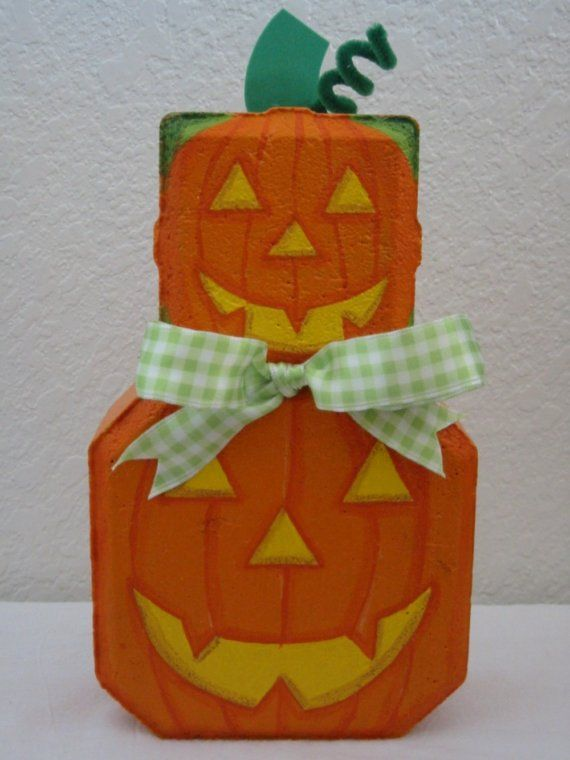 Outdoor Decor- Stacked Pumpkins Patio Person Halloween Garden Art Gift