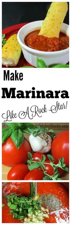Homemade Marinara Sauce. This recipe is so good and so adaptable and at the same time SO EASY! Use fresh tomatoes from your garden or canned.…