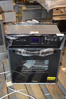 "Whirlpool WOS11EM4EB 24"" Black Single Electric Wall Oven NOB #22093"