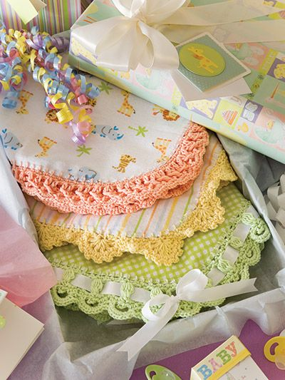 Crochet edges for baby items patterns