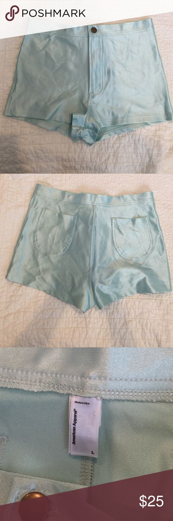 American apparel disco shorts American apparel mint disco shorts American Apparel Shorts