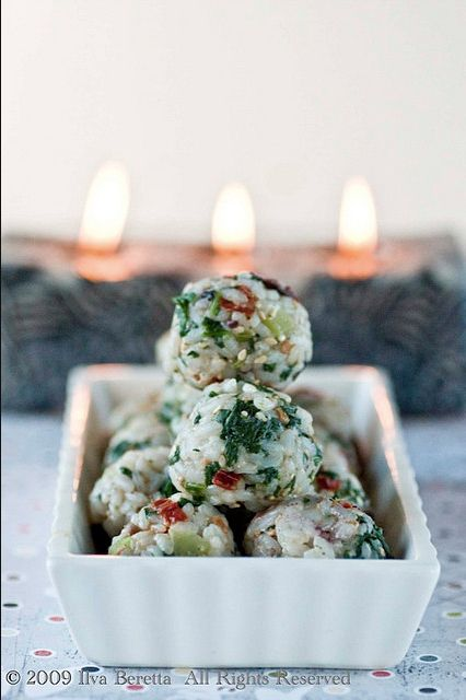 Mediterranean Rice Balls | 101 Bite-Size Party Foods