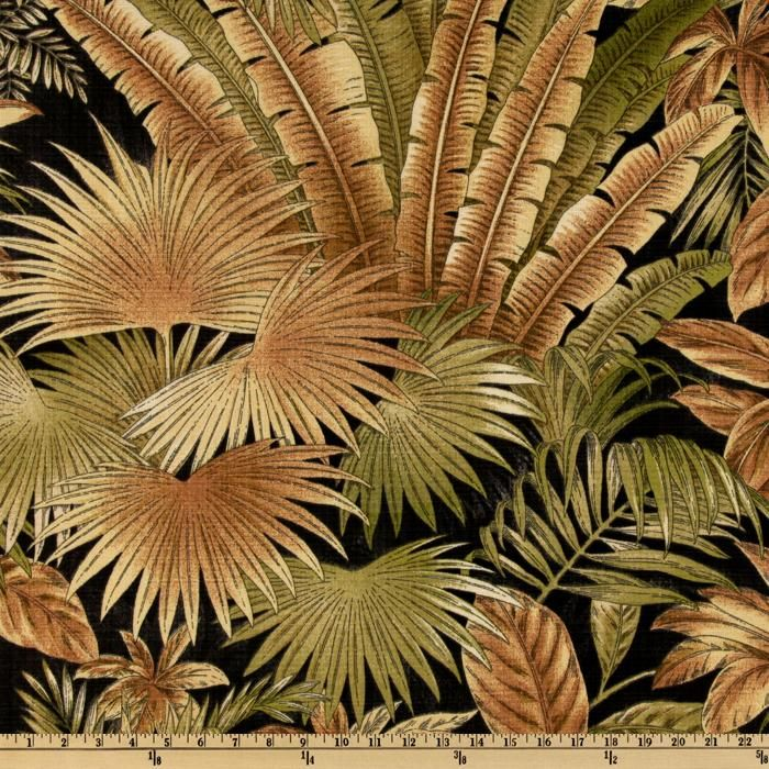 Screen printed on medium-weight (6 oz.) 100% polyester, this bestselling Tommy Bahama versatile fabric is perfect for your outdoor porch and indoor sun room. Its versatility is only matched by its durability. This fabric is both soil and stain resistant and water and oil repellent, making it the perfect fabric for life's messes. Create chair pads, cushions, toss pillows, slipcovers, upholstery, tote bags or heavy-duty travel accessories. Colors include brown, sand, olive, cream and charcoal…