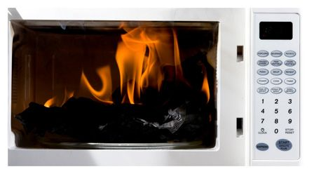 Did you Know?  If you have a fire in the microwave, leave the door closed, turn the oven off and unplug it from the wall. If the fire does not go out, get outside and call the fire department.